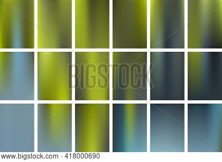 Earth Day Natural Color Blending Fluid Gradient Backgrounds Vector Collection For Banners, Posters,