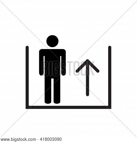 Escalator Up Icon Vector For Graphic Design, Logo, Web Site, Social Media, Mobile App, Ui