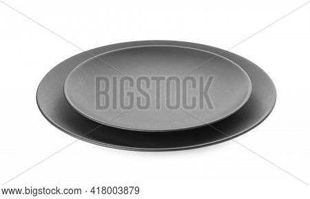 Empty Clean Ceramic Dishware Isolated On White