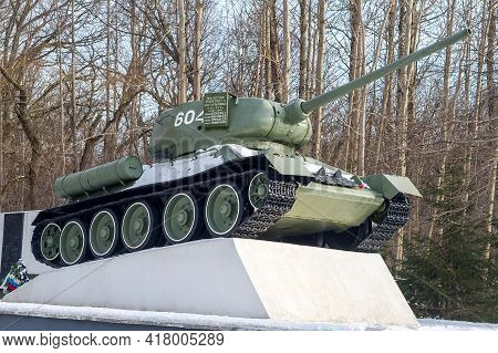 Pereslavskoe (kvanditten), Kaliningrad Region, Russia, March 20, 2021. Military Cemetery. Memorial C