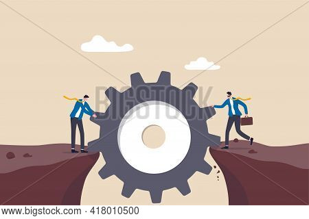 Risk Management, Business Idea To Overcome Difficulty Or Teamwork To Achieve Target Concept, Busines
