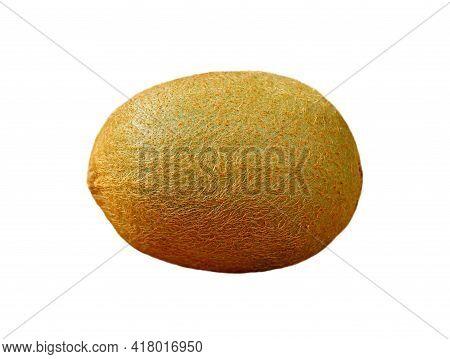 Closeup Of Fresh Ripe Kiwifruit Isolated On White Background