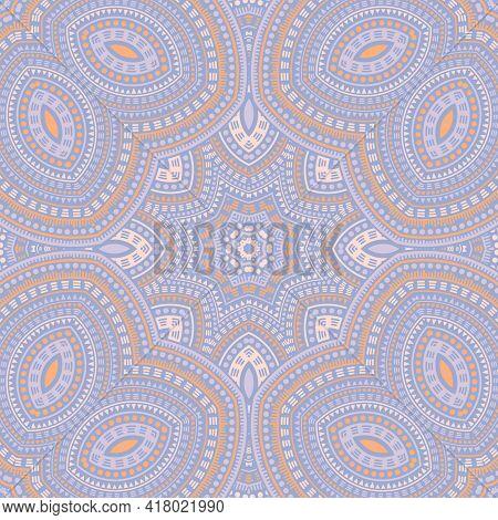 Ottoman Traditional Geometric Vector Seamless Motif. Fabric Print Design. Retro Tunisian Pattern. Po