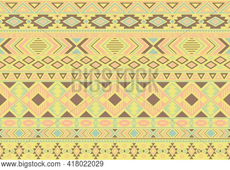Boho Pattern Tribal Ethnic Motifs Geometric Seamless Vector Background. Awesome Boho Tribal Motifs C