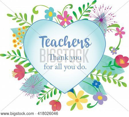 Thank You Teachers For All You Do Decorative Card