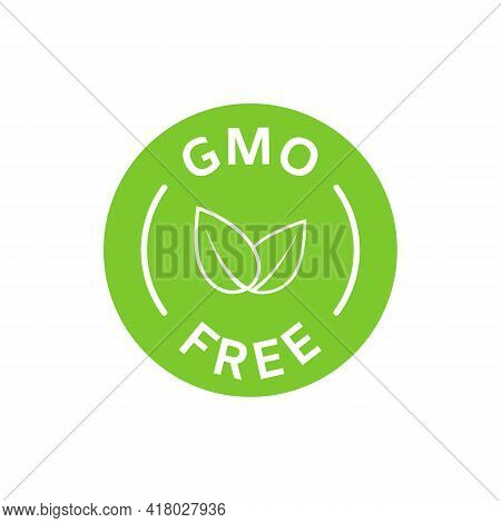 Gmo Free Icon. Healthy Organic Food Concept. No Gmo Design Elements For Tags, Product Packag, Food S