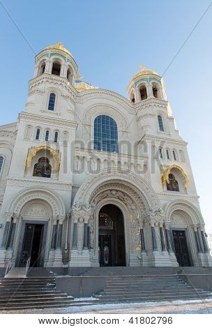 St. Nicholas Naval Cathedral, Located At 1 Yakornaya Square, Kronstadt.