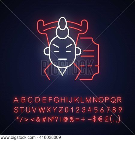 Chinese Opera Neon Light Icon. Traditional Cantonese Performative Art. Hong Kong Music Show. Outer G