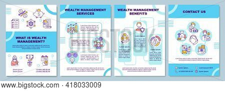 What Is Wealth Management Brochure Template. Wealth Services. Flyer, Booklet, Leaflet Print, Cover D