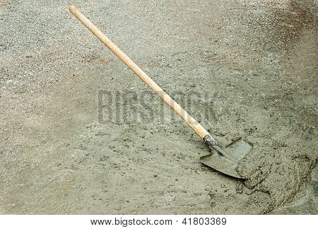 Shovel And Wet Cement