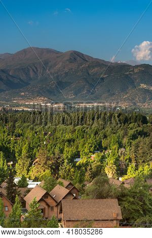View Of La Dehesa Neighborhood, A Very Wealthy And Exclusive Neighborhood In The North-orient Side O