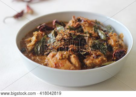 Kerala Style Chicken Curry Made With Home Ground Masala.