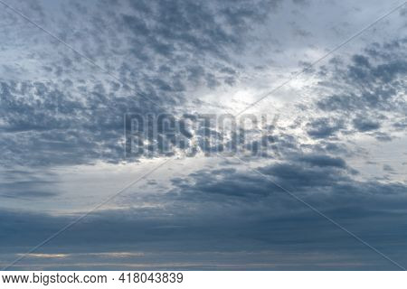 Beautiful Dramatic Cloudscape, Cloudy Sky Background, Natural Light.