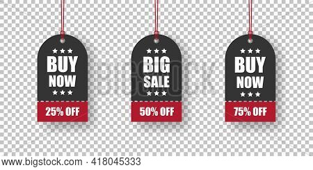 Price Tags. Paper Labels Set. Label Tag. Discount Price Tag Big Sale. Vector Illustration