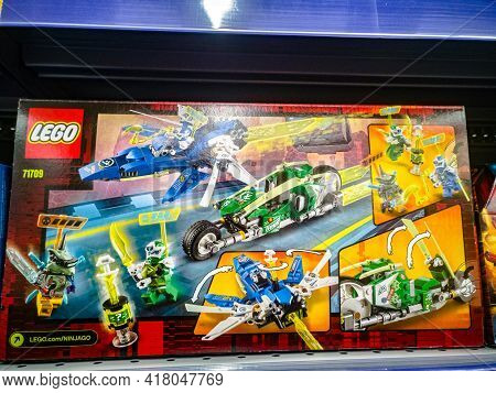 Construction Set Lego Ninjago 71709 Jay And Lloyds High-speed Cars On Sale In The Hypermarket 11.04.