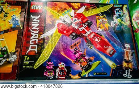 Construction Set Lego Ninjago 71707 Kais Jet Is On Sale In The Hypermarket On 11.04. 2021 In Russia,