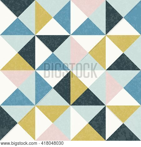 Modern Vector Abstract Seamless Geometric Pattern In Scandinavian Style.