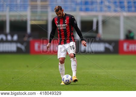 Milano, Italy. 18th April 2021. Theo Hernandez Of Ac Milan  During The Serie A Match Between Ac Mila