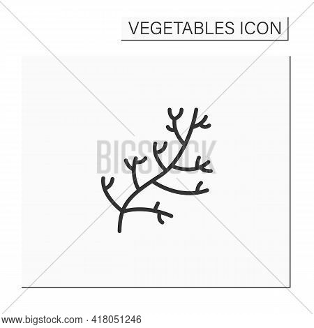 Dill Color Icon. Special Species For Dishes. Improve Food Taste. Dietary Food. Vegetarian, Healthy N