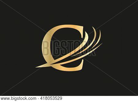 Premium C Logo Design, C Letter Logo With Modern Trendy. C Logo Vector Eps