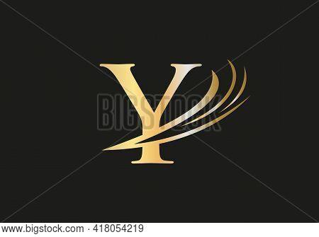 Premium Y Logo Design, Y Letter Logo With Modern Trendy. Y Logo Design