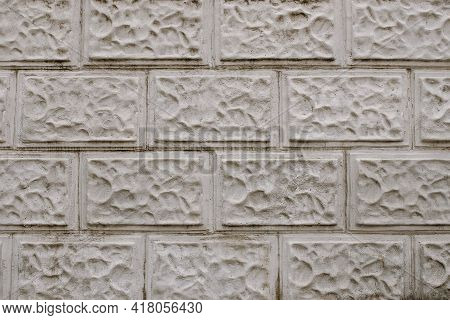 Blank Brick Wall Texture Background. Brick Wall For Interior Exterior Decoration And Industrial Cons