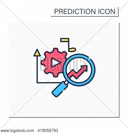 Media Technology Color Icon.predictive Analytics In Media. Research Perfect Customer Products.influe