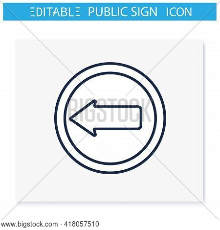 Arrow Symbol Line Icon. Navigation Pointer. Right Direction. Road Traffic Sign. Public Place Navigat