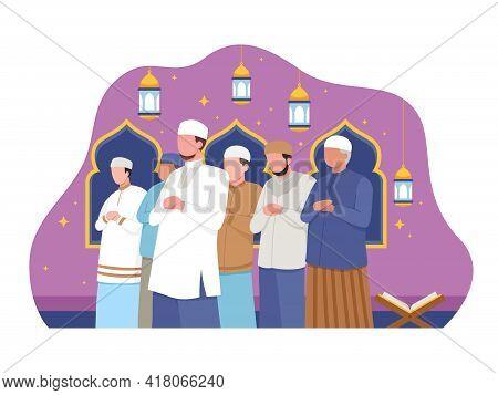Muslim People Perform Taraweeh
