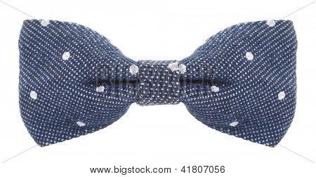 Bow tie blue with white spots
