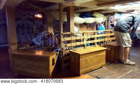 Chicago, Il July 30, 2016 Interior Of The El Galeón Andalucía From Spain A Replica Of A 16th-17th Ce