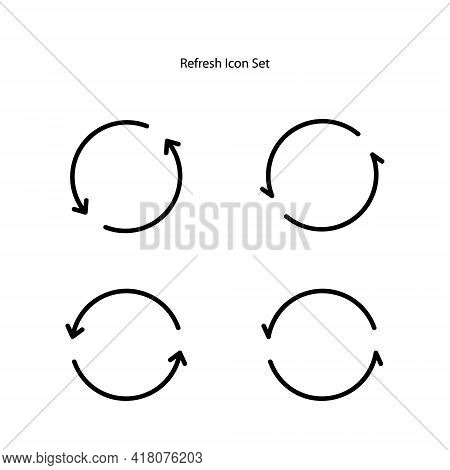 Refresh Icon Set Isolated On White Background. Refresh Icon Trendy And Modern Refresh Symbol For Log