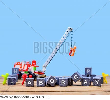 Labor Day Concept. Engineer And Worker With Construction Background.