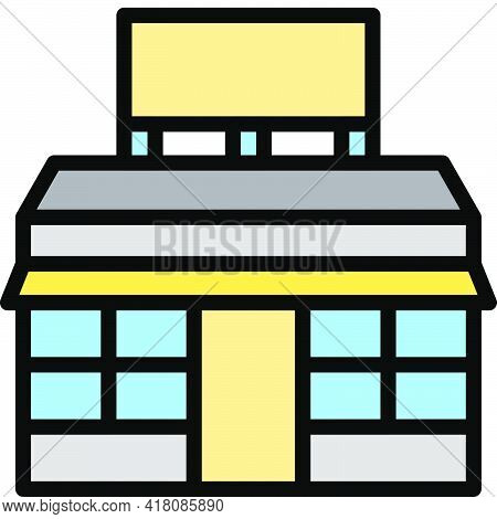 Supermarket Icon, Supermarket And Shopping Mall Related Vector Illustration