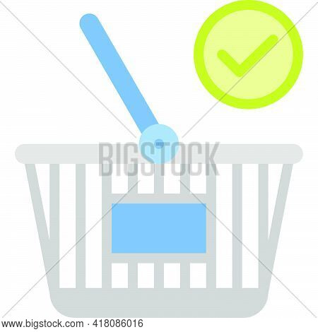 Checkout Icon, Supermarket And Shopping Mall Related Vector Illustration