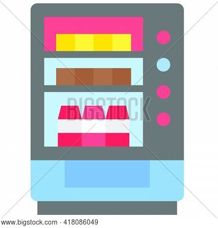 Vending Machine Icon, Supermarket And Shopping Mall Related Vector Illustration
