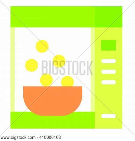 Corn Flakes Icon, Supermarket And Shopping Mall Related Vector Illustration