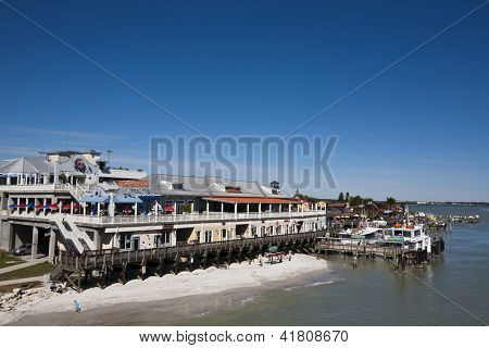 ST. PETERSBURG, FLORIDA - FEBRUARY 2: Popular tourist destination, John's Pass, in Madiera Beach Florida on February 2, 2012