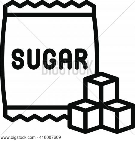 Sugar Bag Icon, Supermarket And Shopping Mall Related Vector Illustration