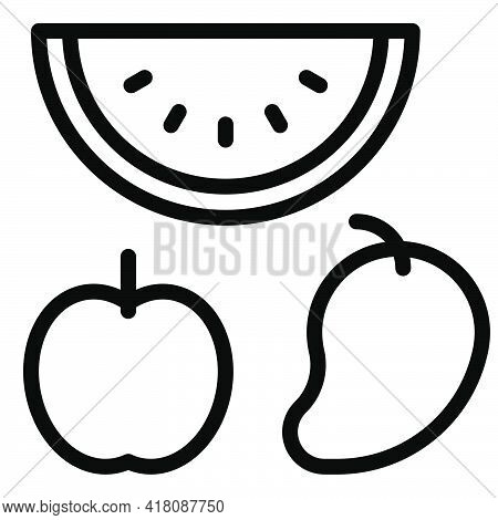 Vegetable Icon, Supermarket And Shopping Mall Related Vector Illustration