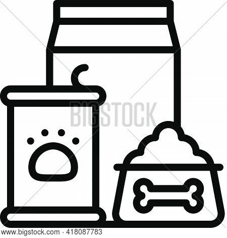 Pet Food Icon, Supermarket And Shopping Mall Related Vector Illustration