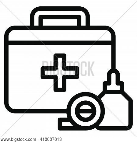 First Aid Kit Icon, Supermarket And Shopping Mall Related Vector Illustration