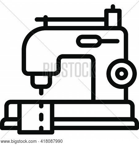 Sewing Machine Icon, Supermarket And Shopping Mall Related Vector Illustration