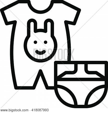 Infant Clothing Icon, Supermarket And Shopping Mall Related Vector Illustration