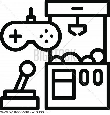 Video Game Accessory Icon, Supermarket And Shopping Mall Related Vector Illustration