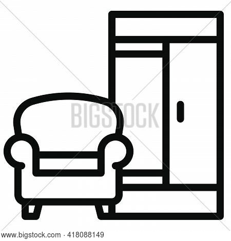 Furniture Icon, Supermarket And Shopping Mall Related Vector Illustration