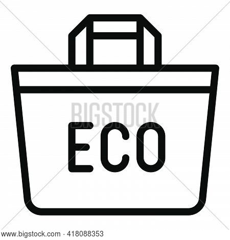 Reusable Shopping Bag Icon, Supermarket And Shopping Mall Related Vector Illustration