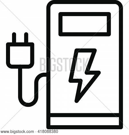 Charging Station Icon, Supermarket And Shopping Mall Related Vector Illustration