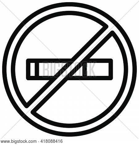 Smoking Ban Icon, Supermarket And Shopping Mall Related Vector Illustration