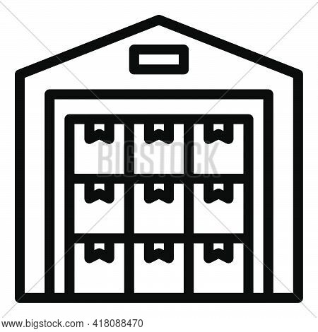 Warehouse Icon, Supermarket And Shopping Mall Related Vector Illustration